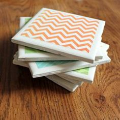 use left over tiles as coasters