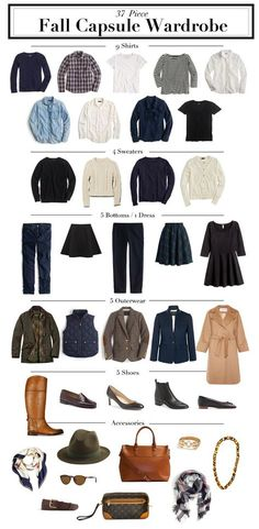 After posting my 31 Piece Fall Capsule Wardrobe last week, I got to thinking. While putting my autumn closet together it seemed to come as second nature, and the whole ordeal was done in a day. Fall Capsule Wardrobe, Work Wardrobe, Fall Wardrobe Essentials, Mode Outfits, Fall Outfits, Travel Outfits, Stylish Outfits, Vetements Clothing, Quoi Porter