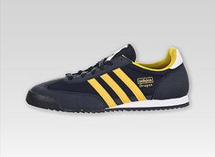 Adidas Dragon J Lifestyle Shoes Navy / Yellow-Run White