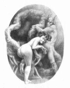 Paintings by Santiago Caruso Les Religions, Weird Art, Strange Art, Goth Art, Surreal Art, Surrealism, Comic Art, Devil, Erotic