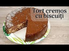 Cel mai cremos și savuros tort cu biscuiți, fără adaos de zahăr - YouTube No Cook Desserts, Something Sweet, Mai, Pudding, Cooking, Youtube, Food, Flan, Baking Center