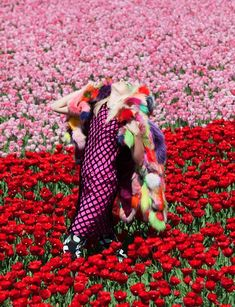 """""""In Bloom"""" taken from the July 2011 issue of Dazed Photography Viviane Sassen, styling Katie Shillingford Red Flowers, Colorful Flowers, Acne Paper, Viviane Sassen, Oscar Fashion, Editorial Fashion, Magazine Editorial, Trendy Fashion, Fashion Ideas"""