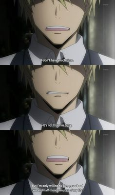 Shizuo Heiwajima - Durarara! ...Shizuo is so relatable sometimes