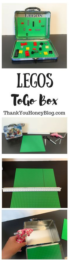 LEGOS ToGo Box, Travel LEGO Box, LEGOS, Travel, Kids, Kids Activities, ToGo Activities for Kids, Travel Activities for Kids, Traveling with kids, Travel Activities, DIY, Tutorial, How To, Hack, thankyouhoneyblog...