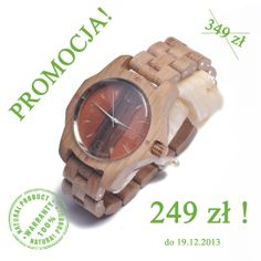 [Wielka przedświąteczna obniżka cen!] Do 19.12.2013 promocja na drewniane czasomierze! Zegarki z drewna Skowron w cenie 249zł  Przed zakupem online koniecznie zapytaj o dostępne modele, oferta ograniczona ilościowo  Odbiór osobisty w Warszawie lub wysyłka kurierem. ZAPRASZAMY! http://allegro.pl/listing/user/listing.php?us_id=33362145 https://www.facebook.com/skowronwatches/app_251458316228 lub kontakt e-mail: zegarki@zegarkizdrewna.pl