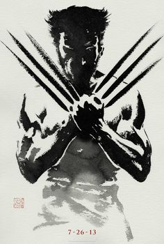 """Teaser poster for """"The Wolverine""""."""
