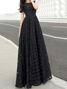Black Sleeveless Cut Out Maxi Dress