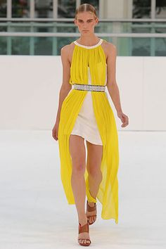 I'm obsessed with pretty much every piece from Sass & Bide Spring 2012 RTW, including this sunny yellow and white Grecian dress!