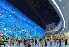 The massive Dubai Mall is the largest shopping center in the world