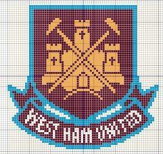Billedresultat for liverpool fc cross stitch patterns uk Cute Cross Stitch, Cross Stitch Charts, Cross Stitch Designs, Cross Stitch Patterns, Hama Beads Patterns, Crochet Cushions, Emblem, West Ham, Bead Art