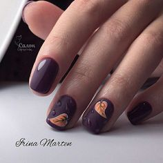 """If you're unfamiliar with nail trends and you hear the words """"coffin nails,"""" what comes to mind? It's not nails with coffins drawn on them. It's long nails with a square tip, and the look has. Square Nail Designs, Fall Nail Art Designs, Halloween Nail Designs, Fun Nails, Pretty Nails, Cute Nails For Fall, Nagellack Trends, Burgundy Nails, Purple Nails"""