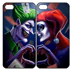 Joker and Harley Quinn  Samsung Galaxy S3 S4 S5 Note 3 case, iPhone 4 4S 5 5s 5c case, iPod Touch 4 5 Couple Case