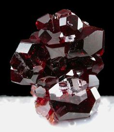 Blood Red Uvite Crystals. finally a natural stone that is exactly my favorite color!