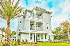 """Walking on sunshine in Blue Mountain Beach, Florida... ☀️   Take in the incredible views of """"Family Traditions"""" at 3959 West Co Hwy 30A! This house is fully equipped with three separate living rooms, 7 bedrooms and 7.5 baths to accommodate 28 guests and an unforgettable outdoor oasis! Call or click today for more information and availability!   🏠 """"Family Traditions"""" 3959 West County Highway 30A - Blue Mountain Beach, Florida 📞 1-877-266-0563 Town Names, Beach Town, House Exteriors, Blue Mountain, Family Traditions, Baths, Separate, Living Rooms, Sunshine"""