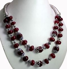 (SKU No. 771ct) 771ct Natural Blood Red Ruby Designer Beads Necklace Cabochon Shape