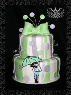 Hand painted and all edible Baby Shower Cake