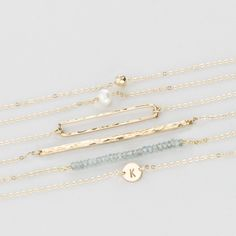 Love Dainty Gold Jewelry!