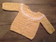 Heklet babyjakke 1-3 mnd / Crochet baby jacket 1-3 months #hekle #crochet