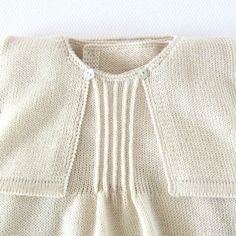 Knitted Christening Gown in pearl. Dress coatee cap by tenderblue