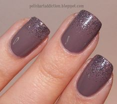 China Glaze Below Deck makes a great compliment to China Glaze CG In The City. use a tiny bit of makeup sponge to dab it on the tips. I just love the tiny black glitter in CG In The City....
