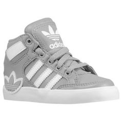 adidas Originals Hard Court Hi - Boys' Toddler - Basketball - Shoes - Black/Running White/Running White