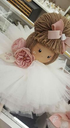 Bambolina realizzata e dipinta a mano 💕🌹 Free To Use Images, Pink Doll, Christmas Crafts, Christmas Ornaments, Sewing Dolls, Angel Ornaments, Fairy Dolls, Doll Crafts, Cute Dolls