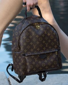 Louis Vuitton Cruise 2016, Palm Springs back pack. This is the mini size and should retail for $1,590.00. There's also a PM and MM size. Love the black straps that won't age with patina.