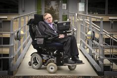 Hawking replied from his wheelchair, his lips bending up into a slight smile.