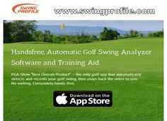 Golf instructors happen to be utilizing a type of advanced golf swing analyzer for years to help golfers strengthen their swing to generate greater contact with Golf Swing Analyzer, Golf Instructors, Golf Training, Golf Gifts, Played Yourself, Understanding Yourself, Software, App, Boyfriend