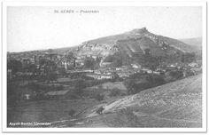 Η φωτογραφία τραβήχτηκε από το δρόμο που οδηγεί στη Βροντού και σ΄ αυτήν διακρίνονται ο ιερός ναός των Αγίων Αναργύρων και η γύρω περιοχή, η Ακρόπολη (Κουλάς) πριν τη δεντροφύτευσή του και μεγάλο μέρος από το τότε κέντρο της πόλης, το Βαρόσι που αποτελούσε την καρδιά του χριστιανικού στοιχείου. Διακρίνεται επίσης ο χώρος όπου σήμερα […]