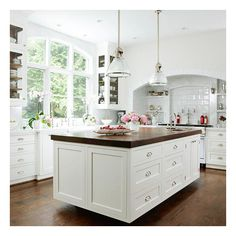 Dream Kitchen Designs ❤ liked on Polyvore featuring house, kitchen, rooms, home and pictures