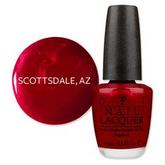 America's Most Wanted Nail Polish Scottsdale, AZ: Opalescent Red The Lamar Spa and Salon reported OPI's An Affair In Red Square was Scottsdale's steamy favorite. $8.50; opi.com for salon locations.