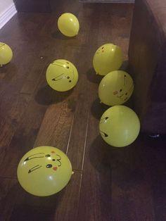 DIY Pikachu Baloons https://www.pinterest.com/explore/pokeball-cake/