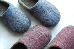 Women house shoes felted wool natural slippers boots by elijana, $65.00