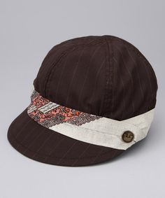 Take a look at this Brown Peschiera Wool-Blend Jockey Cap by Goorin Bros. on #zulily today!