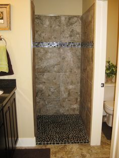 I really want a walk in shower! So cool!