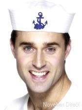 Sailor Doughboy Hat. A great choice of fancy dress accessory to wear. http://www.novelties-direct.co.uk/Sailor-Doughboy-Hat.html