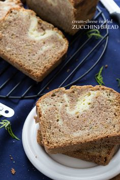 Cream Cheese-Swirled Zucchini Bread