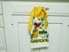 Kitchen Hand Towel Dish Towel Hanging Dish Towel Towel With Ties Garlic And  Tomato Hanging Towel Tie On Towel Tea Towel Hanging Hand Towel