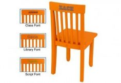 Personalized Avalon Chair - Tangerine