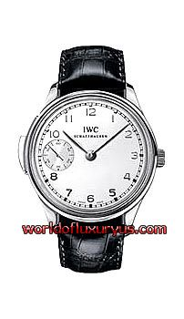 IW524204 -  This IWC Portuguese Minute Repeater watch in platinum features a 42mm case, silver dial and a black crocodile strap. The IWC Portugese Minute Repeater watch also features a hand-wound movement with minute repeater and sub seconds function. This watch also has a sapphire case back. - See more at: http://www.worldofluxuryus.com/watches/IWC/Discontinued-Models/IW524204/185_789_1010.php#sthash.7Iuc0G5y.dpuf