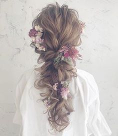 29 Pretty Beautiful and Cute Amazing Hairstyles for Women – Page 17 – Top nail Bride Hairstyles, Pretty Hairstyles, Amazing Hairstyles, Hair Arrange, Braut Make-up, Floral Hair, Wedding Beauty, Boho Wedding, Rustic Wedding
