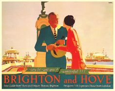 SUSSEX - Brighton and Hove - The Greeting, 1931 SR Poster by Andrew Johnson [also poulwebb]