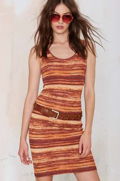 Vintage Missoni Sunset Stripe Dress - Vintage