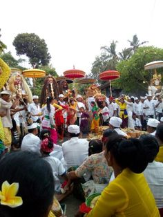 Procession before entering temple