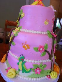 Plumeria Cake Studio: Dora the Explorer Birthday Cake