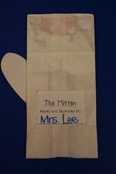 M is for Mitten theme,  The Mitten by Jan Brett