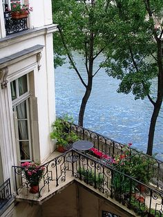 A Paris flat on Ile Saint Louis. - Garden Style - A Paris flat on Ile Saint Louis. A Paris flat on Ile Saint Louis. The Places Youll Go, Places To Go, Outdoor Spaces, Outdoor Living, Outdoor Patios, Outdoor Kitchens, Beautiful Homes, Beautiful Places, Paris Flat