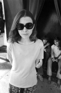 Joan Didion, a young journalist in the 1960s.