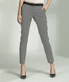 059441d8854a Take a look at this Black   White Diamond Pants - Women today! 8 Femme